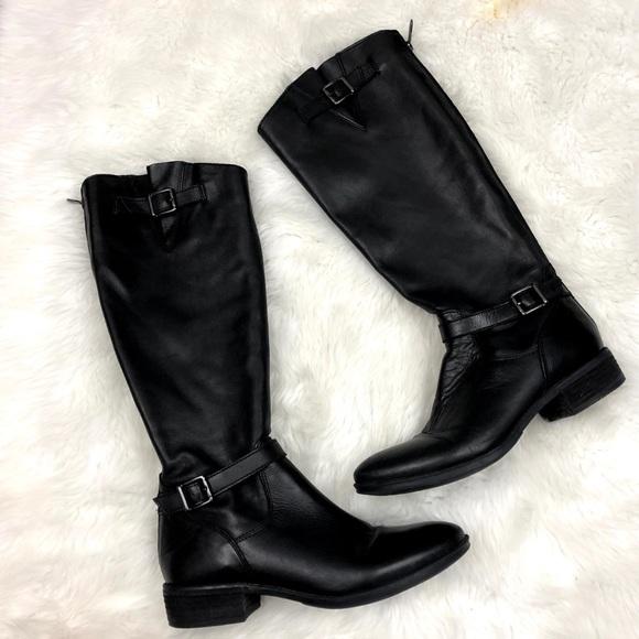32ab953ce04a3 🎃Sam Edelman Black Leather Painter Riding Boots. M 5bb29eb81b16db6fbd2c1bb7